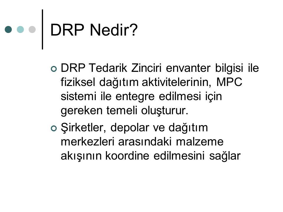 DRP Nedir? DRP Tedarik Zinciri envanter bilgisi ile fiziksel dağıtım aktivitelerinin, MPC sistemi ile entegre edilmesi için gereken temeli oluşturur.