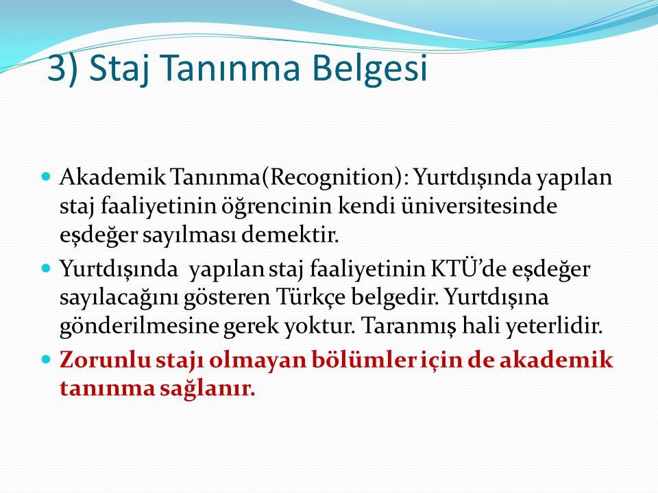 4) Transcript of Records (Güncel Not Dökümü Belgesi) ECTS sistemine göre düzenlenmiş ve öğrencinin KTÜ'de şu ana kadar aldığı dersleri gösteren İngilizce not dökümü belgesidir.