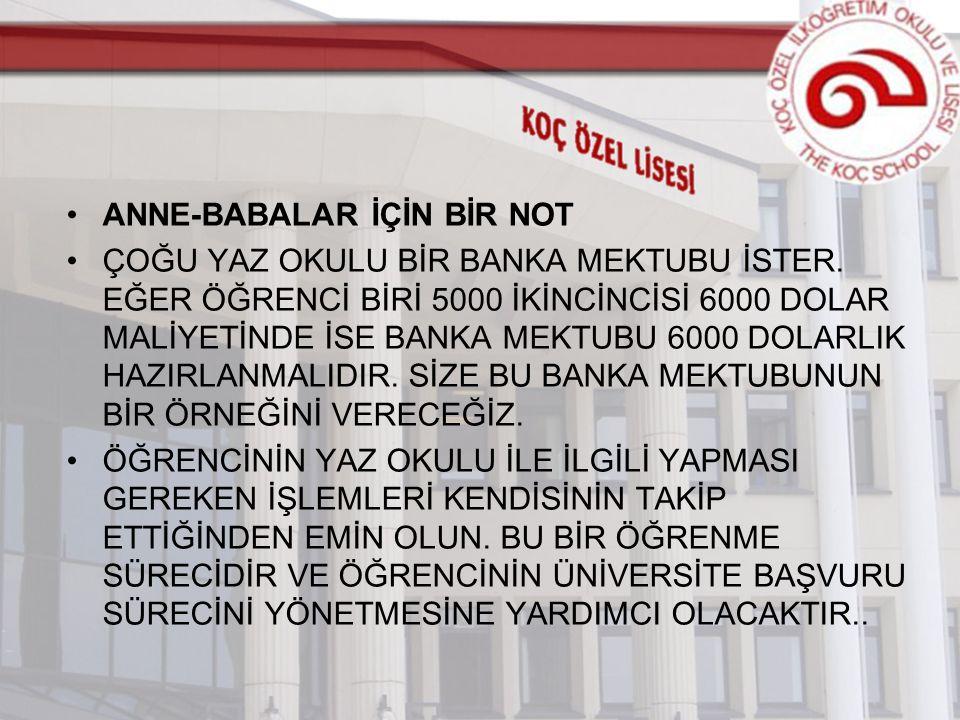 ANNE-BABALAR İÇİN BİR NOT ÇOĞU YAZ OKULU BİR BANKA MEKTUBU İSTER.