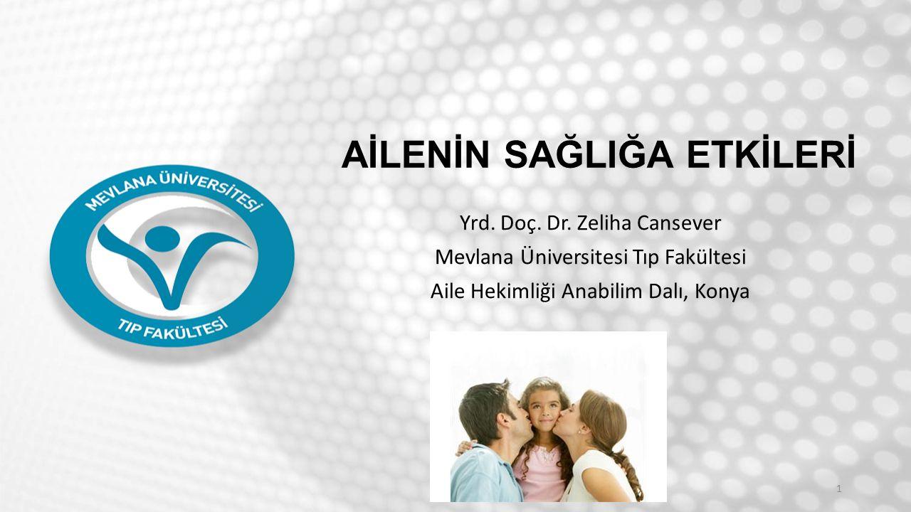 Amaç; Ailenin sağlığa etkileri konusunda bilgi vermek 2