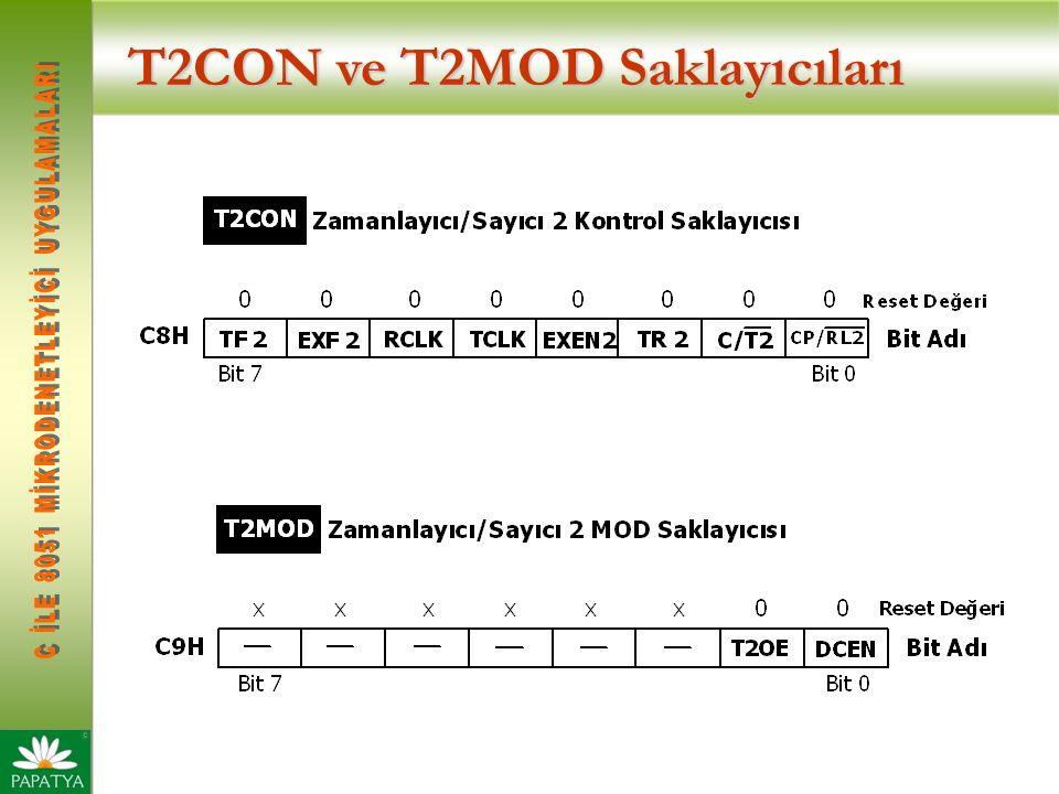 T2CON ve T2MOD Saklayıcıları