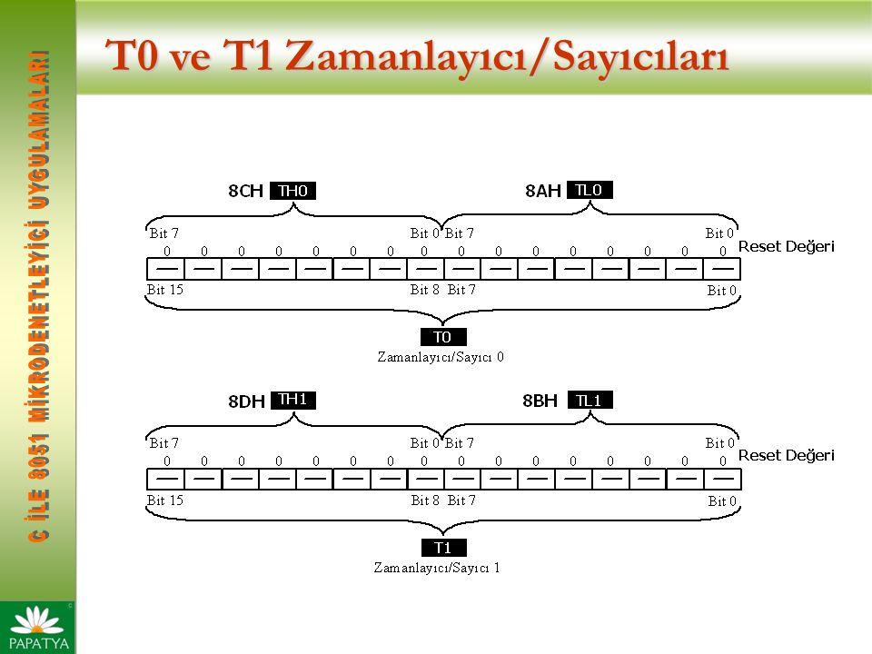 T0 ve T1 Zamanlayıcı/Sayıcıları