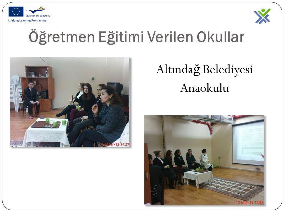 Öğretmen Eğitimi Verilen Okullar Altında ğ Belediyesi Anaokulu