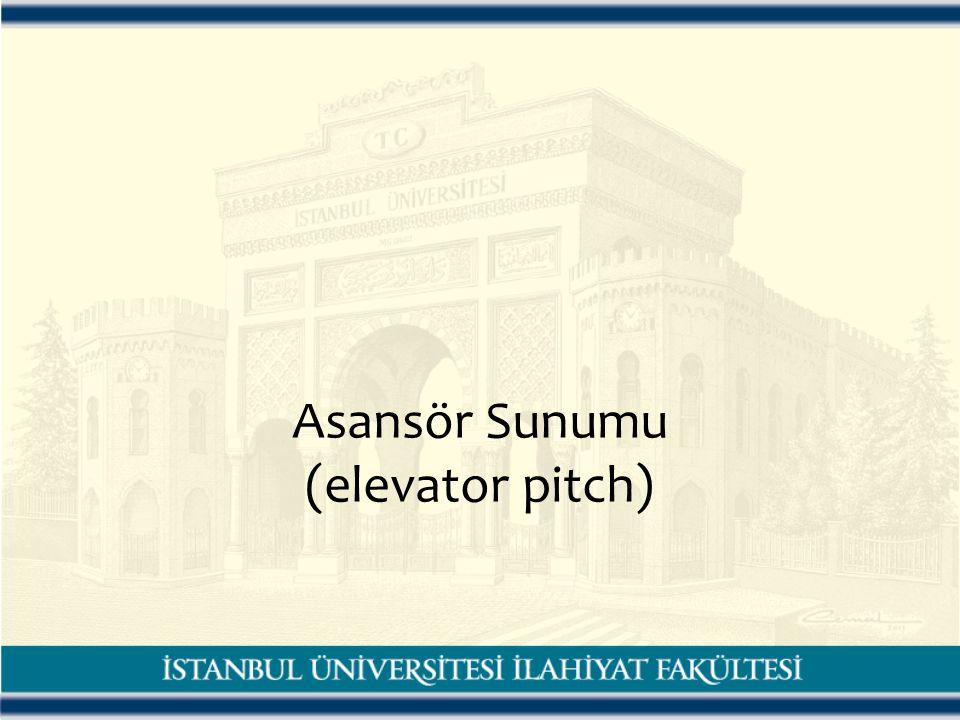 Asansör Sunumu (elevator pitch)