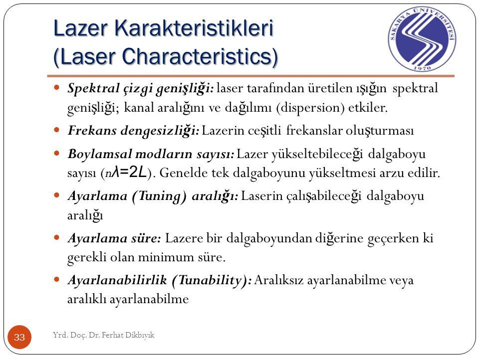 En faydalı lazer tipi Most useful laser type Yrd. Doç. Dr. Ferhat Dikbıyık 32 Yarı-iletken diyot lazer (Semiconductor Diode Laser):