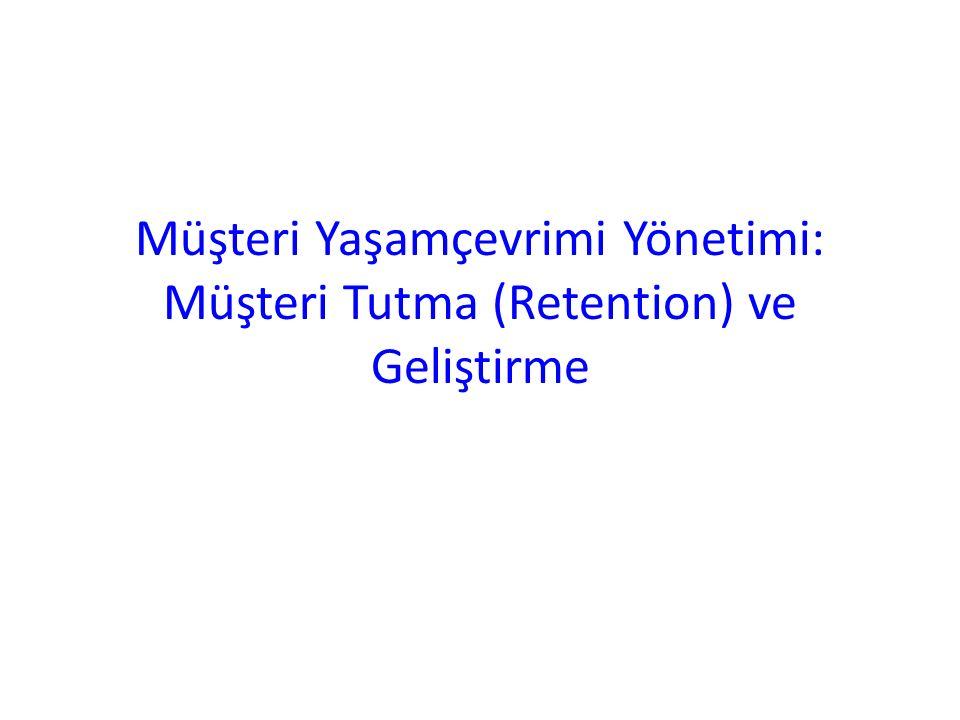 Müşteri Yaşamçevrimi Yönetimi: Müşteri Tutma (Retention) ve Geliştirme