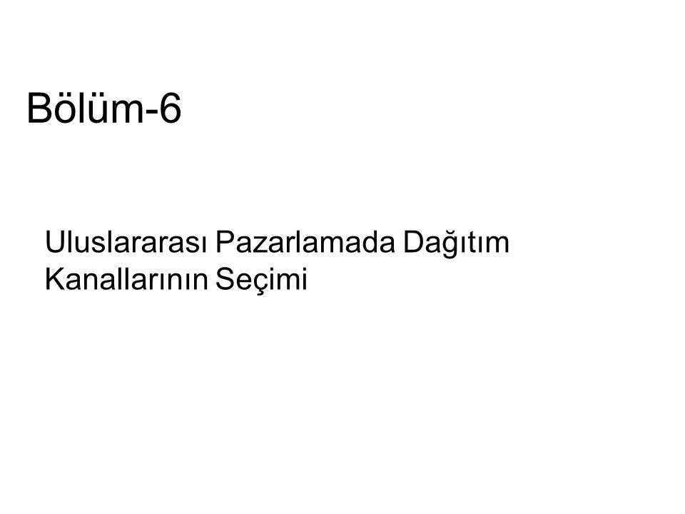 Dağıtım Kanallarının Seçimi 1.