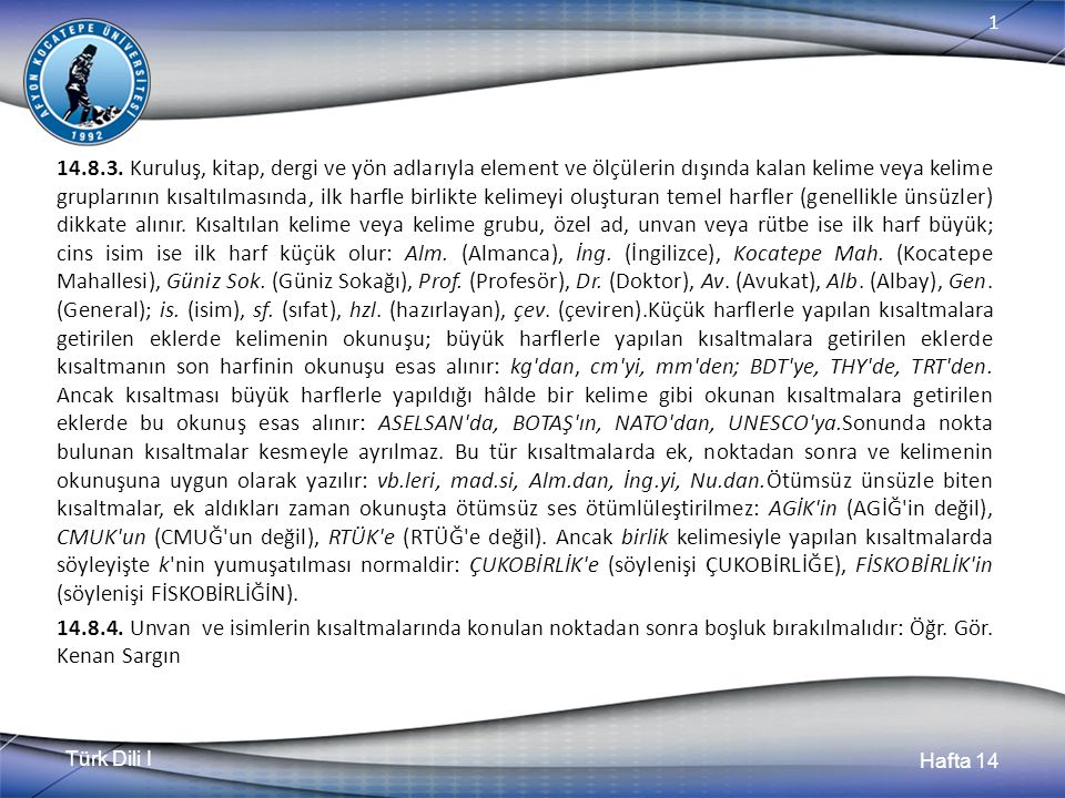Türk Dili I Hafta 14 1 14.8.3.