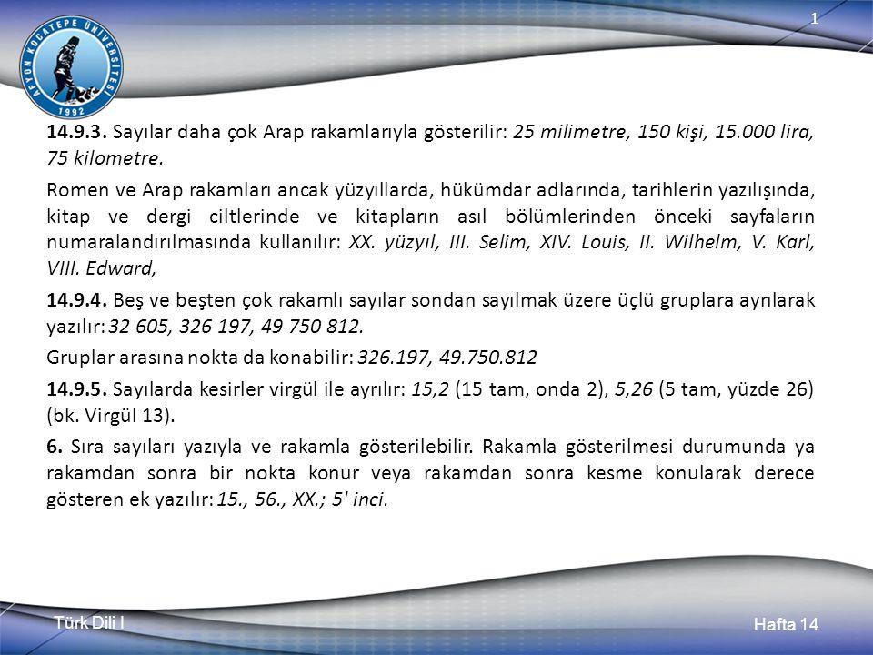 Türk Dili I Hafta 14 1 14.9.3.