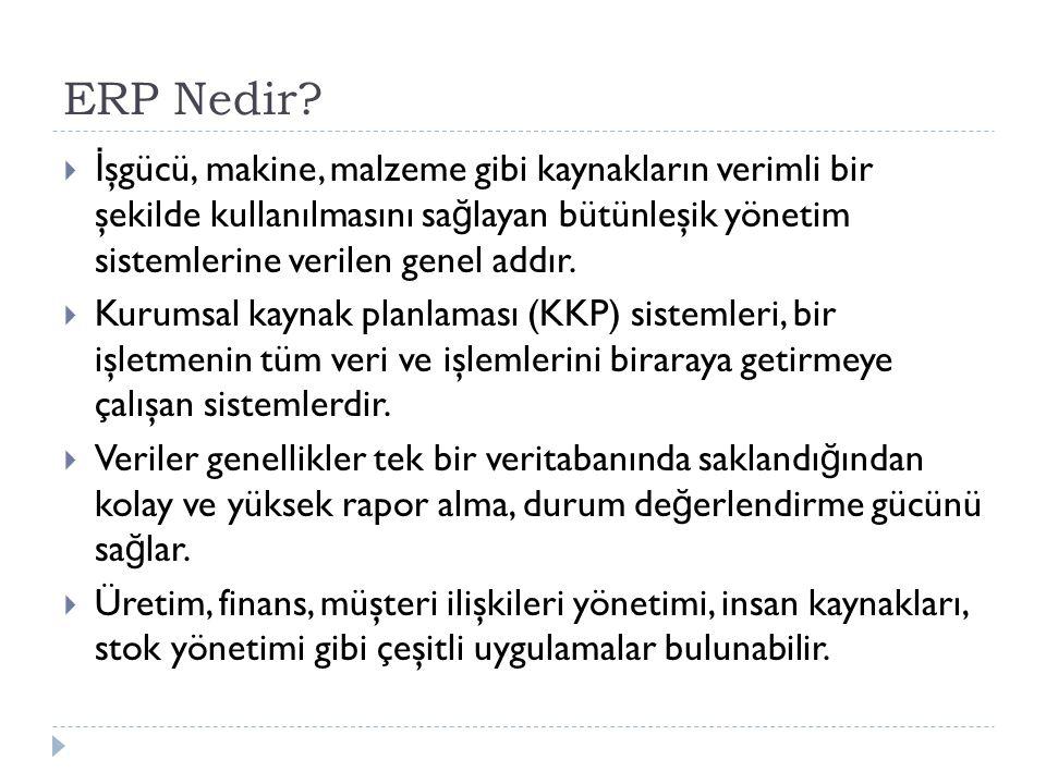 ERP Nedir.
