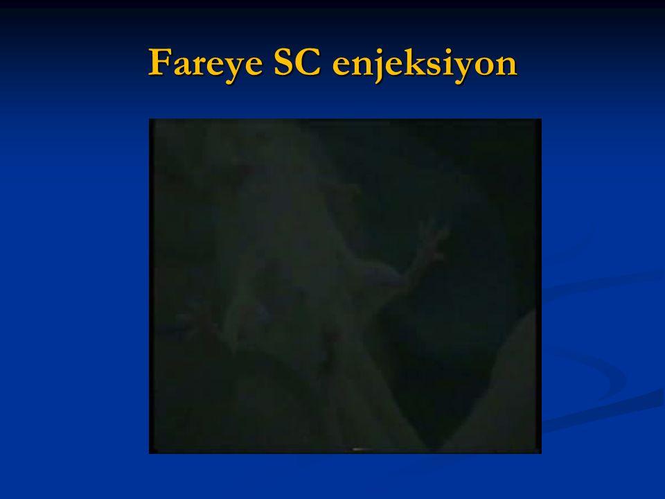 Fareye SC enjeksiyon