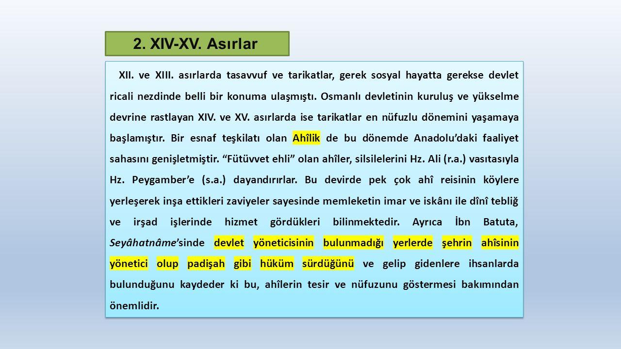 2. XIV-XV. Asırlar XII. ve XIII.