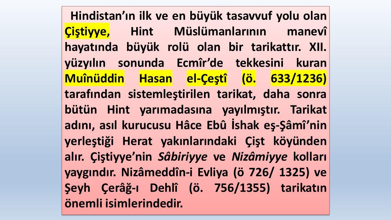 Kübreviyye ise Harezmli Şeyh Necmeddin Kübrâ (ö.618/1221) tarafından Türkistan'da kurulmuş bir tarikattır.