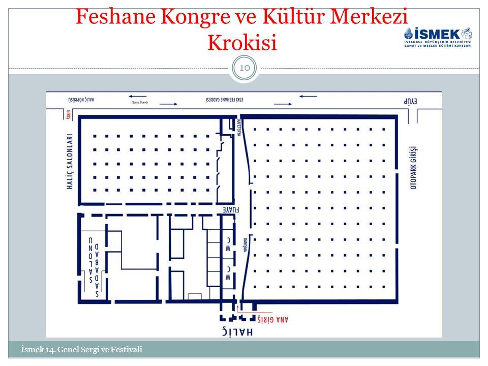 Feshane Kongre ve Kültür Merkezi Krokisi 10 İsmek 14. Genel Sergi ve Festivali