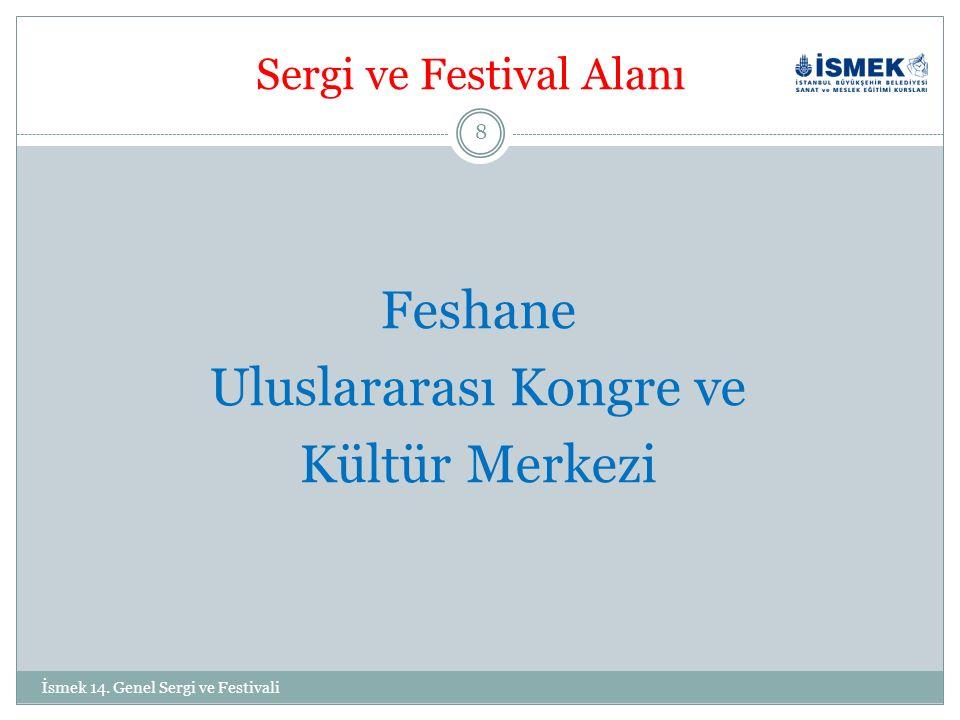 Sergi ve Festival Alanı Feshane Uluslararası Kongre ve Kültür Merkezi 8 İsmek 14.