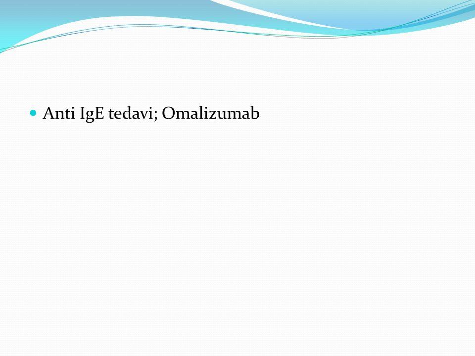 Anti IgE tedavi; Omalizumab