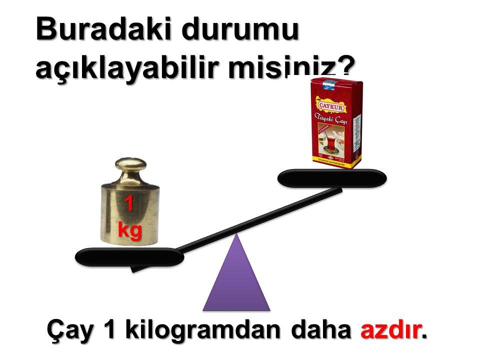Buradaki durumu açıklayabilir misiniz? 1kg Çay 1 kilogramdan daha azdır.