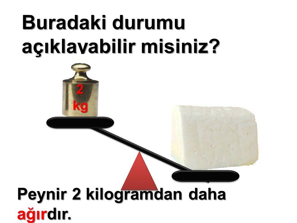 Buradaki durumu açıklayabilir misiniz 2kg Peynir 2 kilogramdan daha ağırdır.