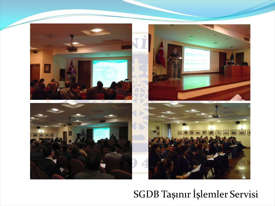 SGDB Taşınır İşlemler Servisi