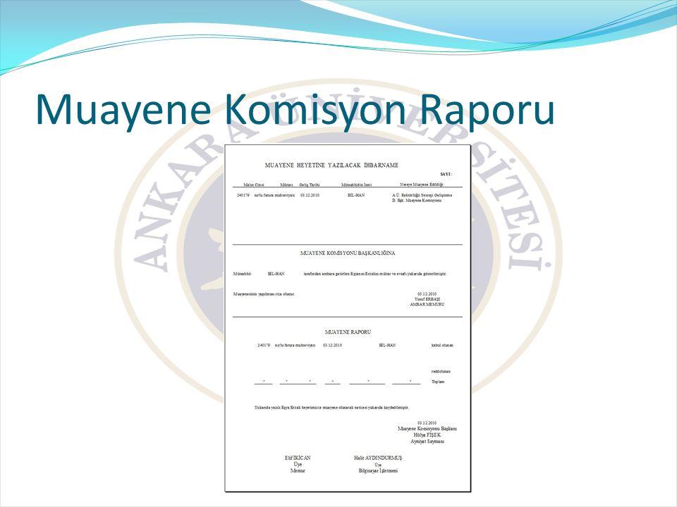 Muayene Komisyon Raporu