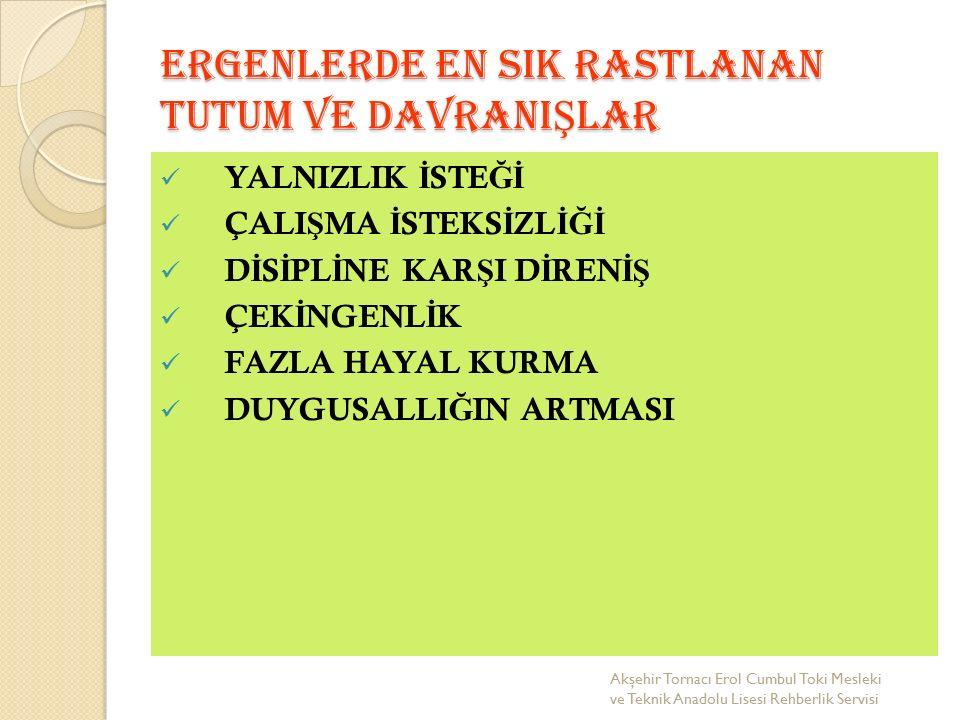 GÜLSEREN ÖZ TEŞEKKÜRLER Akşehir Tornacı Erol Cumbul Toki Mesleki ve Teknik Anadolu Lisesi Rehberlik Servisi