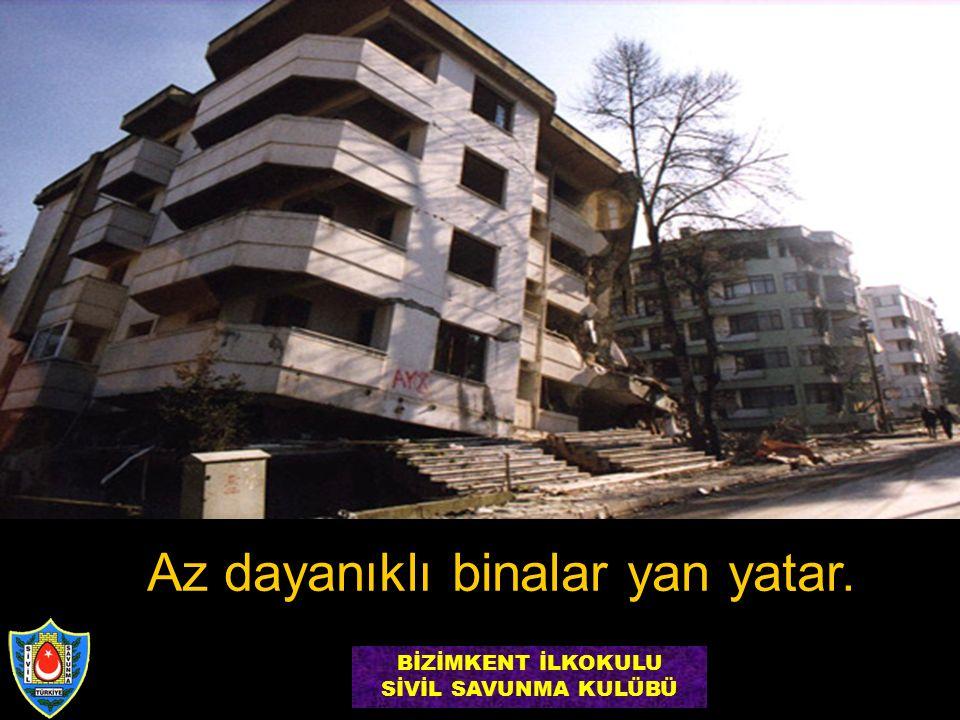 Az dayanıklı binalar yan yatar. BİZİMKENT İLKOKULU SİVİL SAVUNMA KULÜBÜ