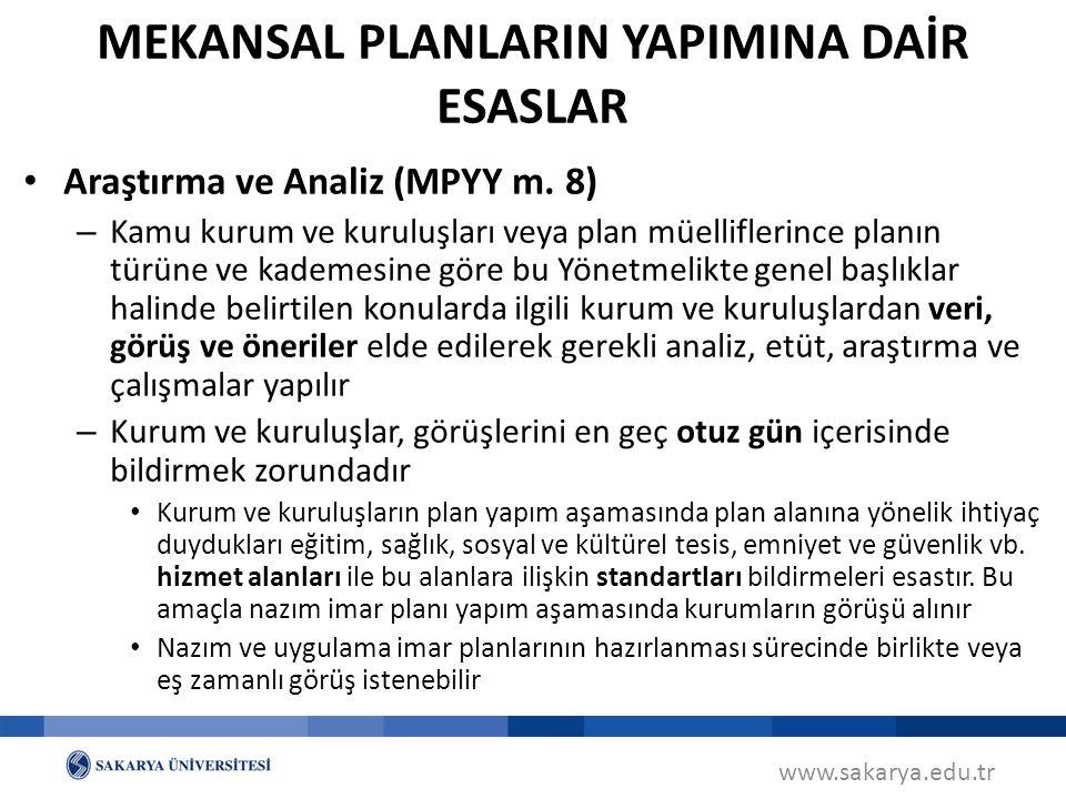 www.sakarya.edu.tr Araştırma ve Analiz (MPYY m.