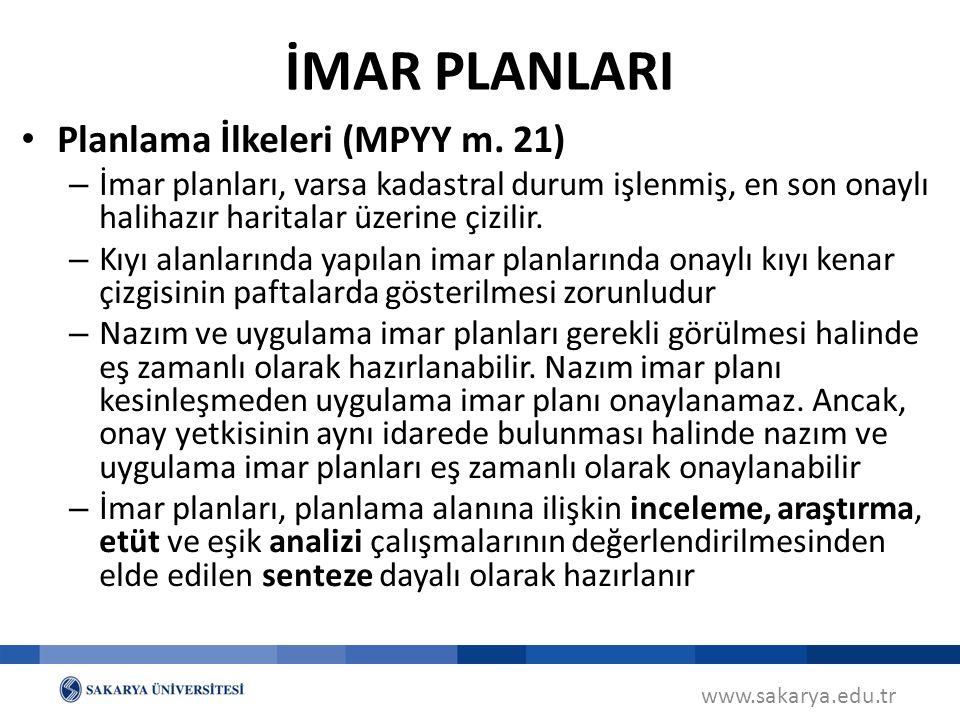 www.sakarya.edu.tr Planlama İlkeleri (MPYY m.