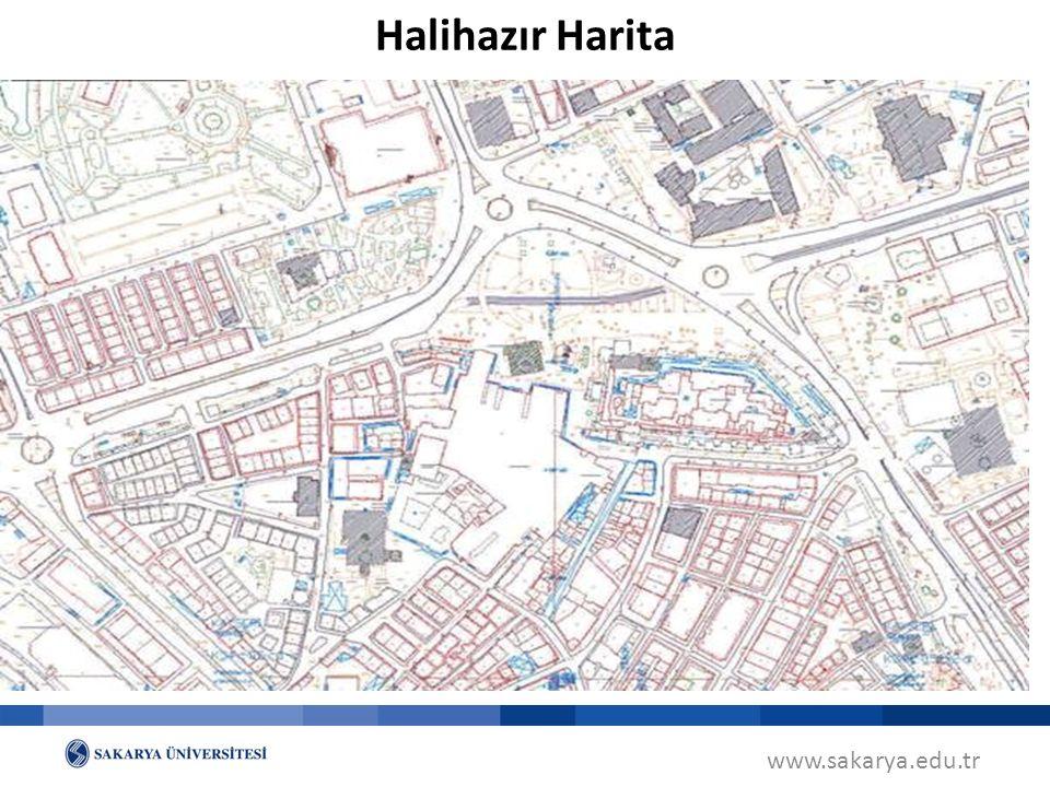 www.sakarya.edu.tr Halihazır Harita