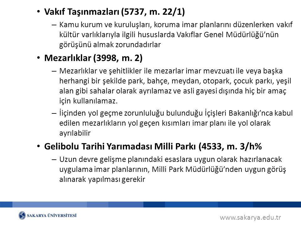 www.sakarya.edu.tr Vakıf Taşınmazları (5737, m.