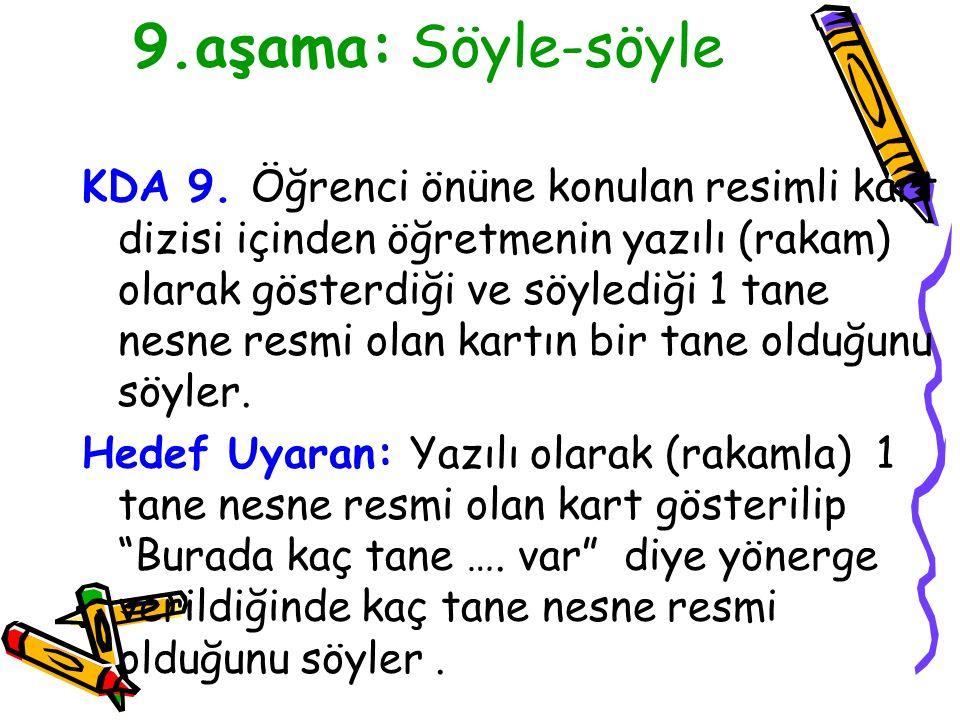 9.aşama: Söyle-söyle KDA 9.