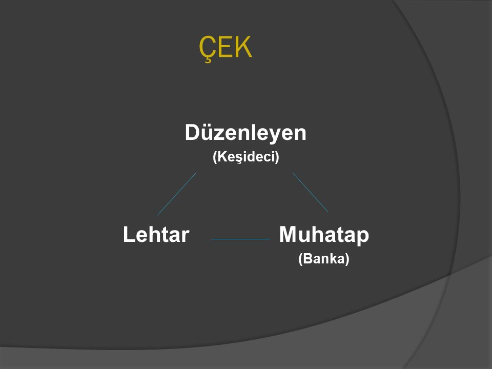 ÇEK ÖRNEĞİ T.C.Ziraat Şube Çek Tutarı:Keşide Yeri ve Tarihi: Bankası A.Ş.