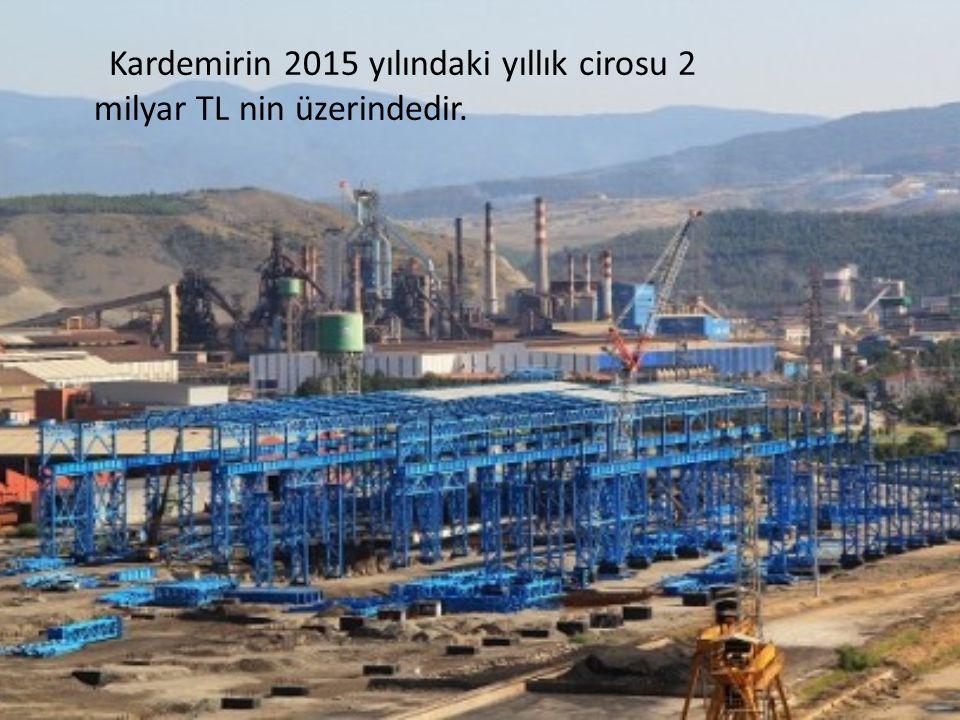 Kardemirin 2015 yılındaki yıllık cirosu 2 milyar TL nin üzerindedir.