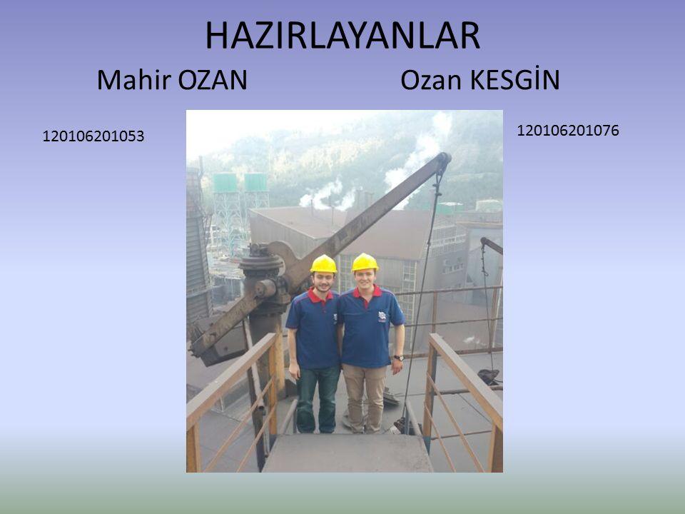 HAZIRLAYANLAR Mahir OZAN Ozan KESGİN 120106201076 120106201053