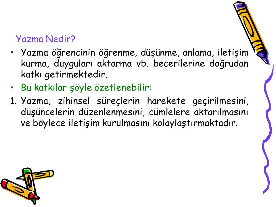 Yazma Eğitiminin Temel İlkeleri 8.