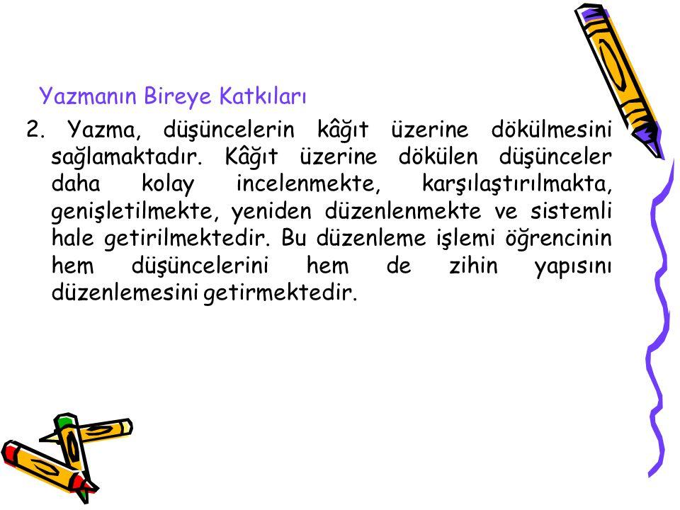 Yazma Eğitiminin Temel İlkeleri 11.