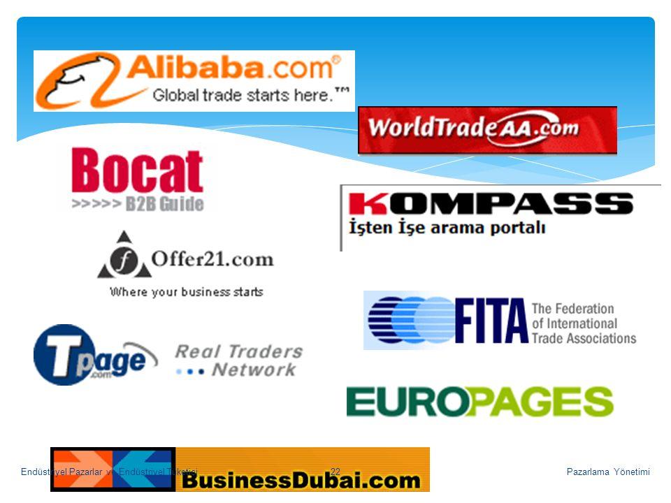 Pazarlama Yönetimi22Endüstriyel Pazarlar ve Endüstriyel Tüketici