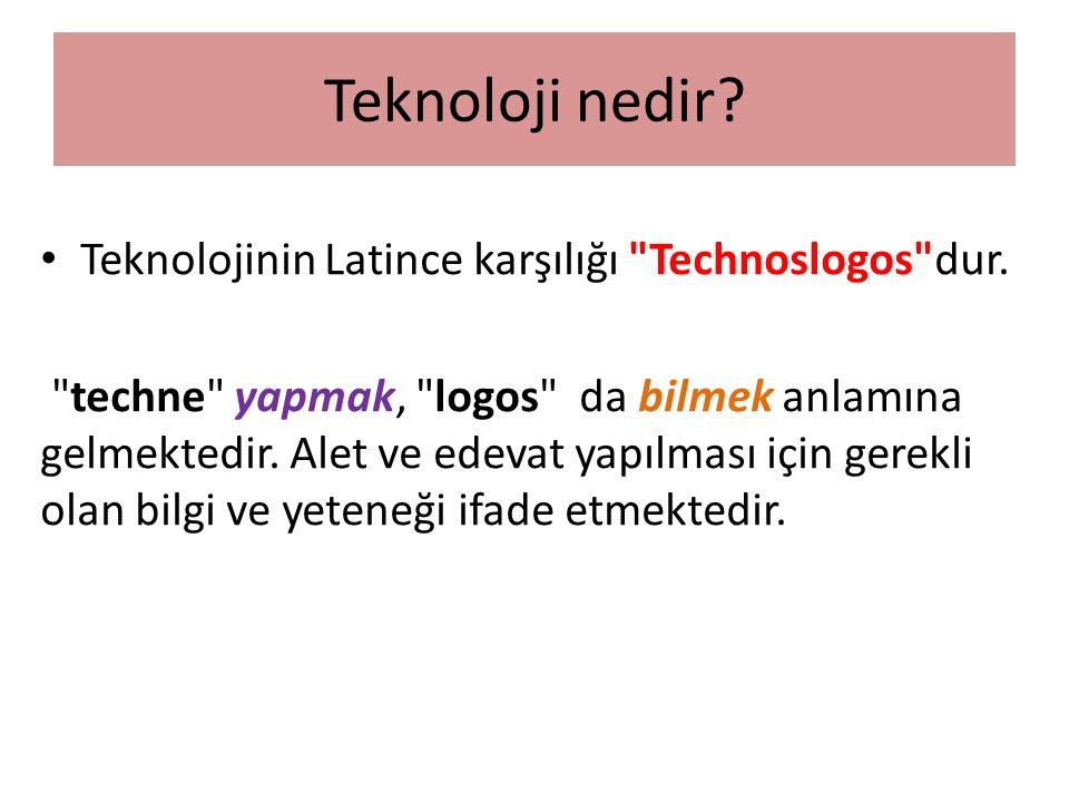 Teknolojinin Latince karşılığı