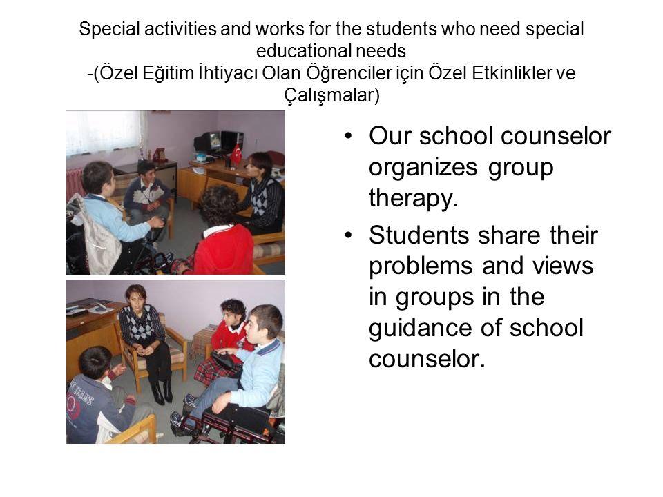 Special activities and works for the students who need special educational needs -(Özel Eğitim İhtiyacı Olan Öğrenciler için Özel Etkinlikler ve Çalış