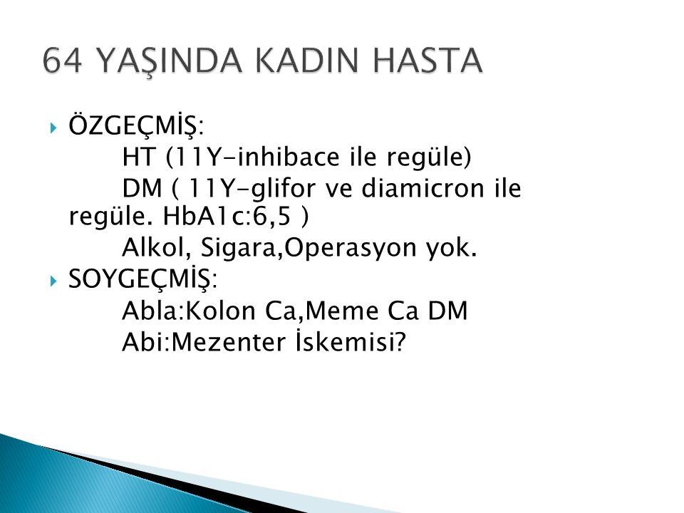  ÖZGEÇMİŞ: HT (11Y-inhibace ile regüle) DM ( 11Y-glifor ve diamicron ile regüle.