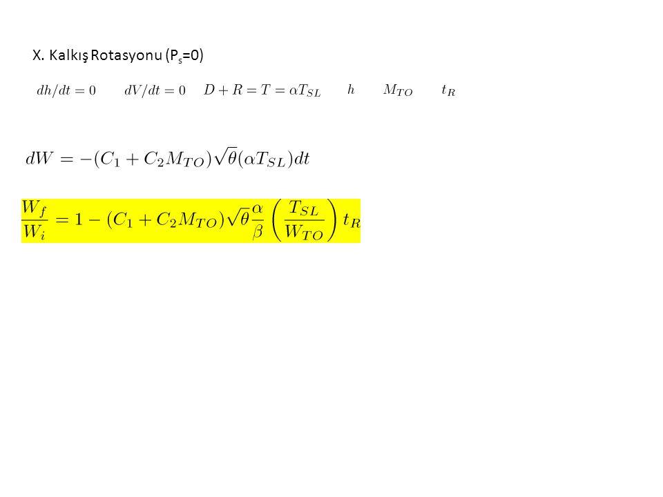 X. Kalkış Rotasyonu (P s =0)
