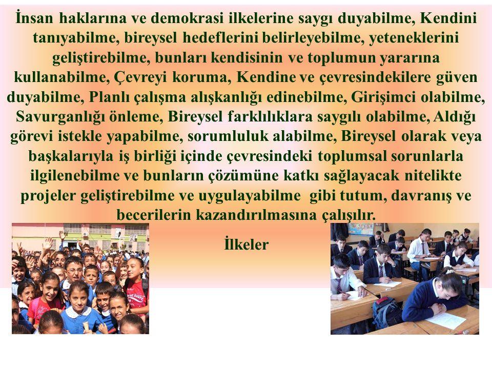 Sosyal Etkinliklerin Amacı Sosyal etkinliklerin amacı, Türk Millî Eğitiminin genel amaç ve temel ilkelerine uygun olarak; öğrencilerin Atatürk İlke ve İnkılâplarına, Anayasanın başlangıcında ifadesini bulan Atatürk milliyetçiliğine bağlı yurttaşlar olarak yetişmelerine, yeteneklerini geliştirerek gerekli donanımı kazanmalarına katkıda bulunmaktır.