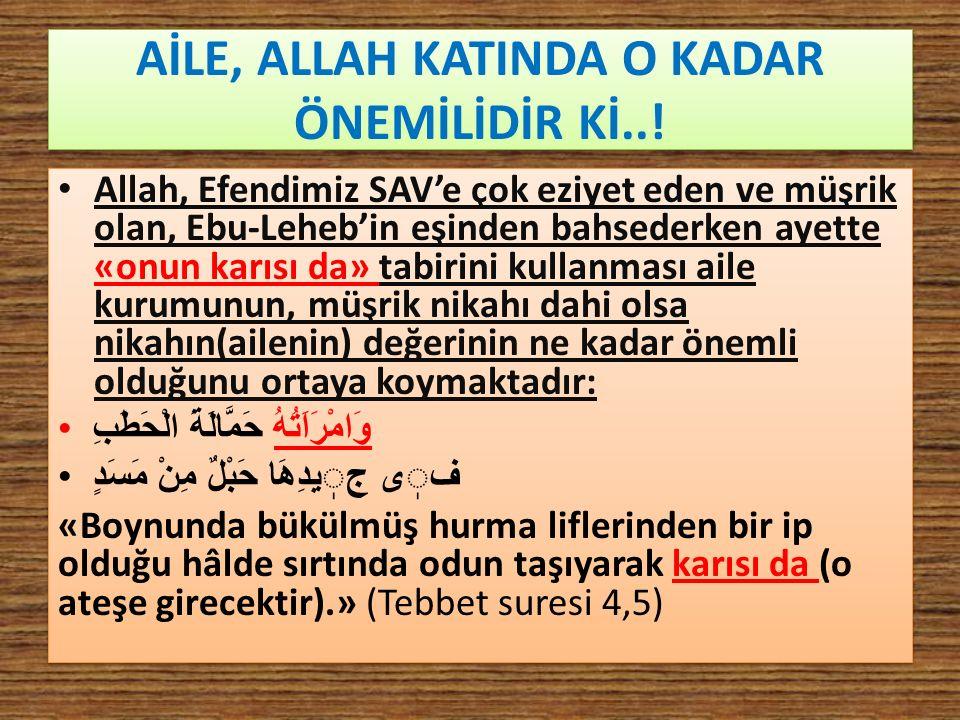 EŞLERİN ARASI YAŞAM Eşlerin birbirleri ile iyi geçinmeleri İslam'ın ana prensibidir ve kadınlara meşru yaşamda iyilikle davranmak Allah'ın emridir.