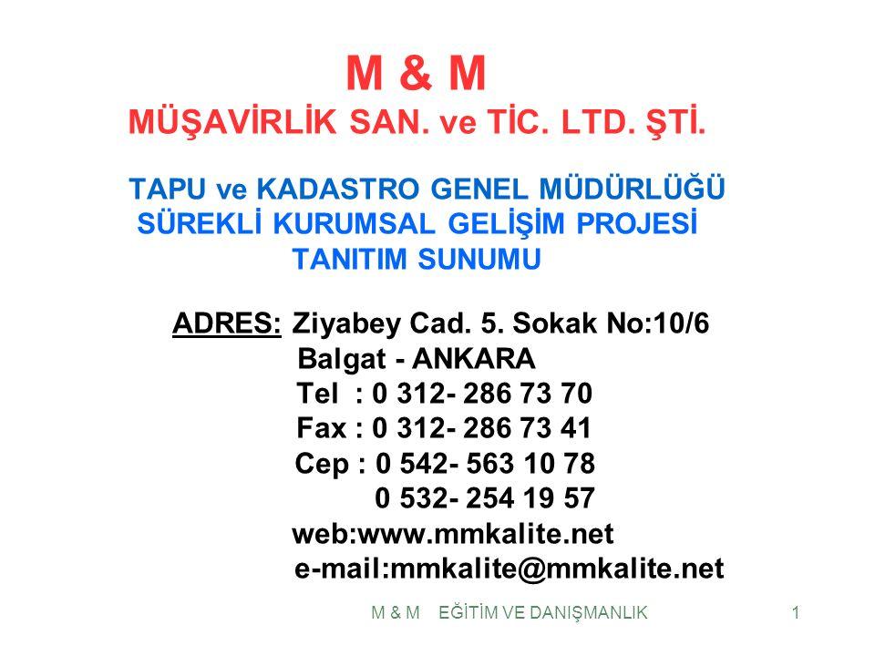 1 M & M MÜŞAVİRLİK SAN. ve TİC. LTD. ŞTİ.
