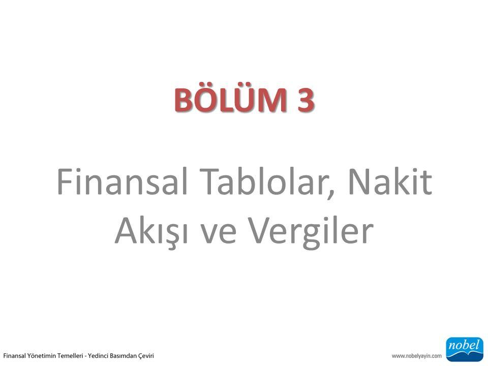 BÖLÜM 3 Finansal Tablolar, Nakit Akışı ve Vergiler