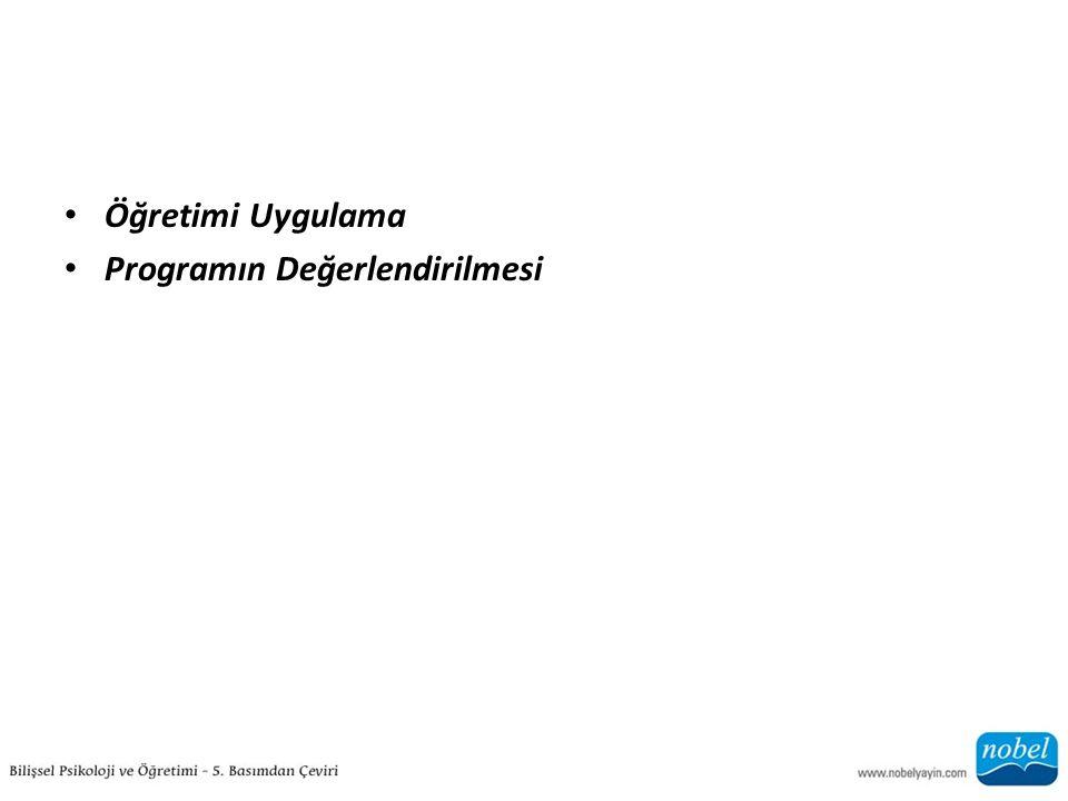 Öğretimi Uygulama Programın Değerlendirilmesi