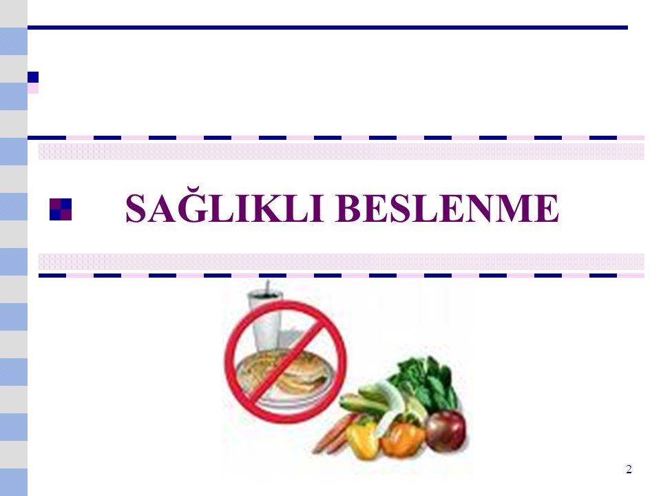 Taze Sebzeler ve Meyveler C vitamini, karoten, folat, riboflavin, demir ve magnezyum başta olmak üzere birçok vitamin ve minerali içerir.