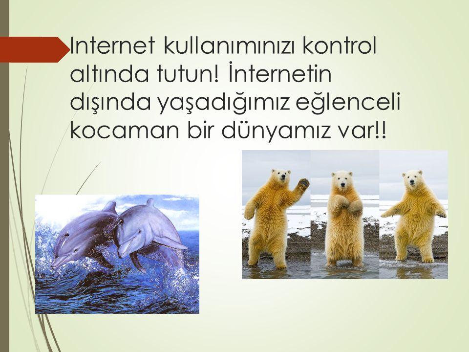 Internet kullanımınızı kontrol altında tutun.
