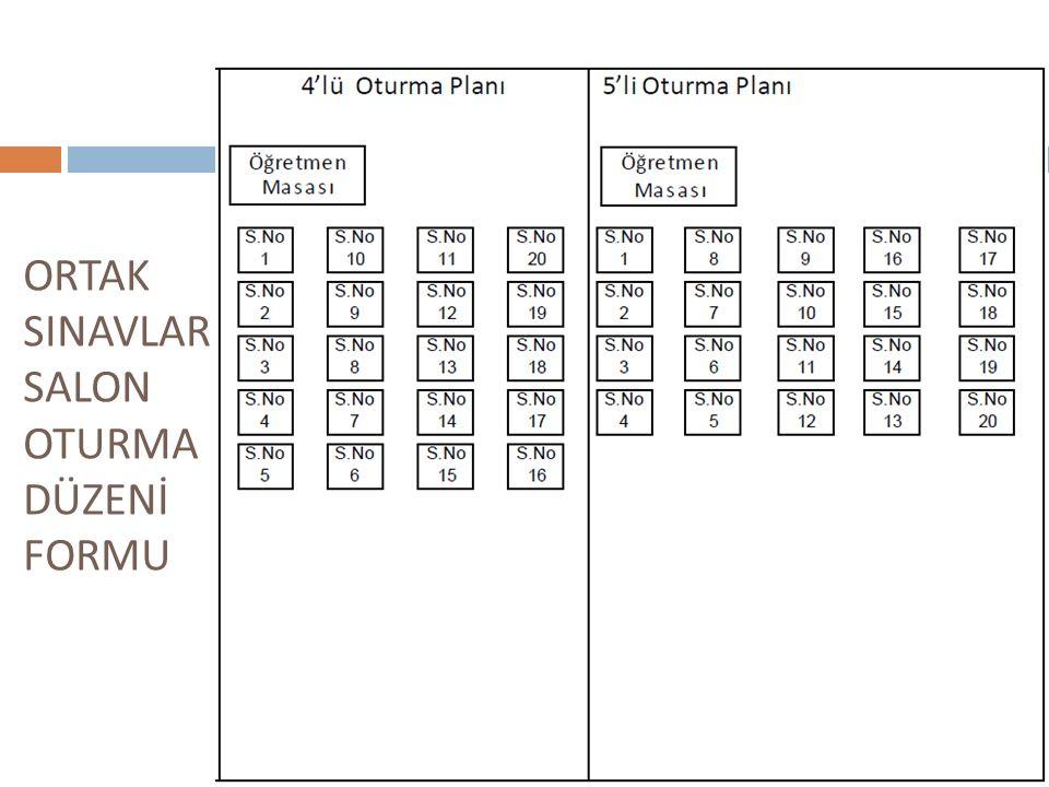Dikkat : Kaç personel görevlendirilece ğ i okulunuzdaki salon sayısına göre sistem tarafından otomatik belirlenmiştir.