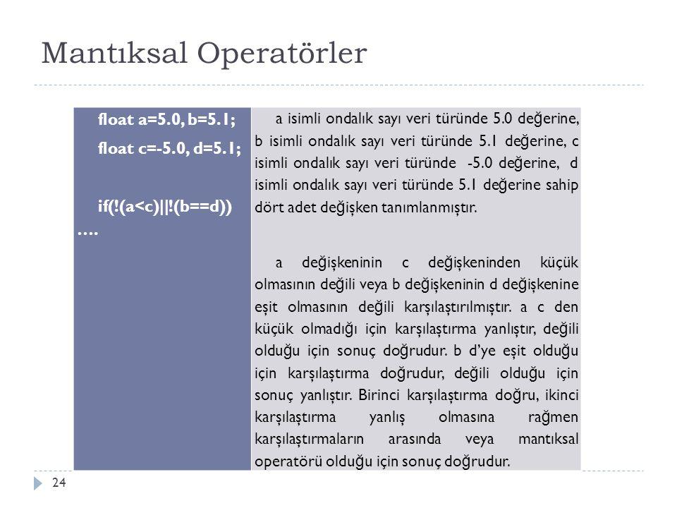 Artırma Azaltma Operatörleri 25 Artırma veya azaltma operatörleri bir de ğ işkenin de ğ erini bir artırmak veya bir azaltmak amacıyla kullanılan operatördür.